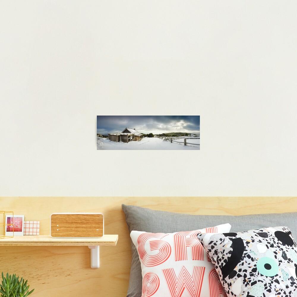 Craigs Hut Winter Morning, Mt Stirling, Victoria, Australia Photographic Print