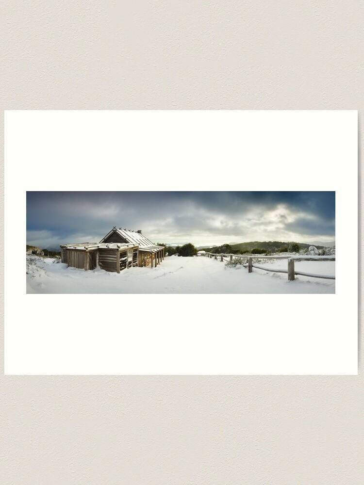 Alternate view of Craigs Hut Winter Morning, Mt Stirling, Victoria, Australia Art Print