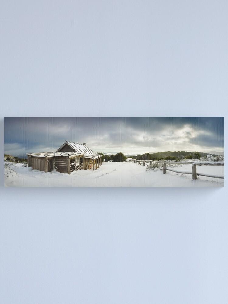 Alternate view of Craigs Hut Winter Morning, Mt Stirling, Victoria, Australia Canvas Print
