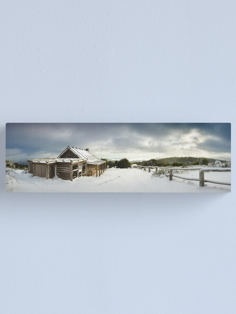 Alternate view of Craigs Hut Winter Morning, Mt Stirling, Victoria, Australia Canvas Print