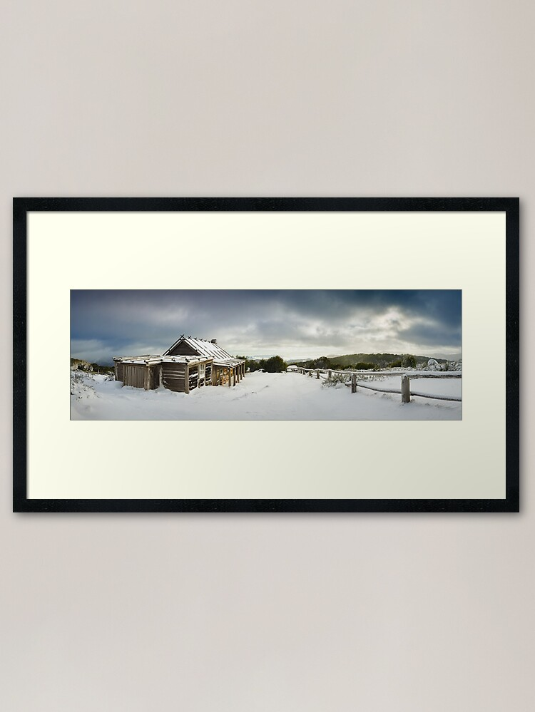 Alternate view of Craigs Hut Winter Morning, Mt Stirling, Victoria, Australia Framed Art Print