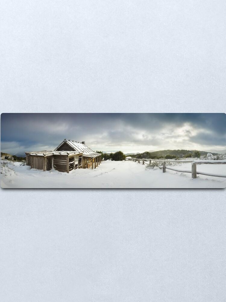 Alternate view of Craigs Hut Winter Morning, Mt Stirling, Victoria, Australia Metal Print
