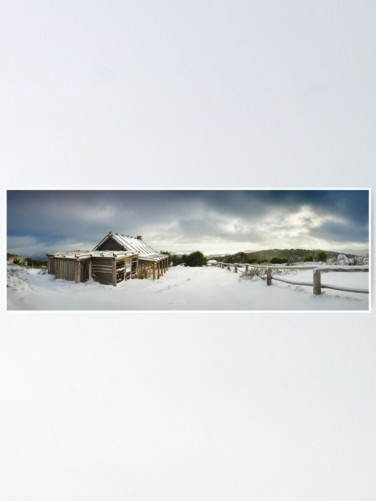 Alternate view of Craigs Hut Winter Morning, Mt Stirling, Victoria, Australia Poster