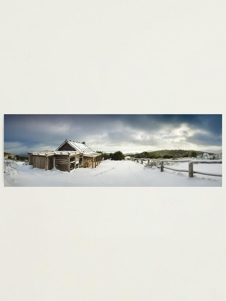 Alternate view of Craigs Hut Winter Morning, Mt Stirling, Victoria, Australia Photographic Print