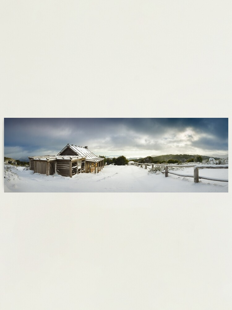 Alternate view of Craigs Hut Winter Morning, Mt Stirling, Victoria, Australia Photographic Print