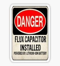 Logo-Flux Capacitor Sticker