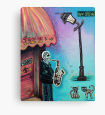 The New Orleans Skeleton Club Canvas Print