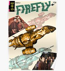 Firefly Vintage Comics Cover (Serenity) Poster