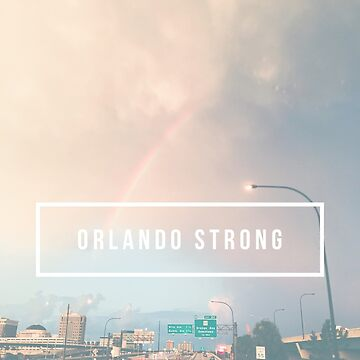 Orlando Strong (rainbow over downtown) by johnnabrynn