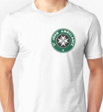 TARDIS St. John Ambulance Starbucks Logo T-Shirt