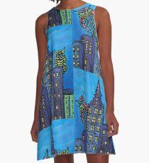Nachteulen A-Linien Kleid