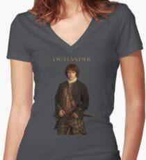 Outlander/Jamie Fraser Women's Fitted V-Neck T-Shirt