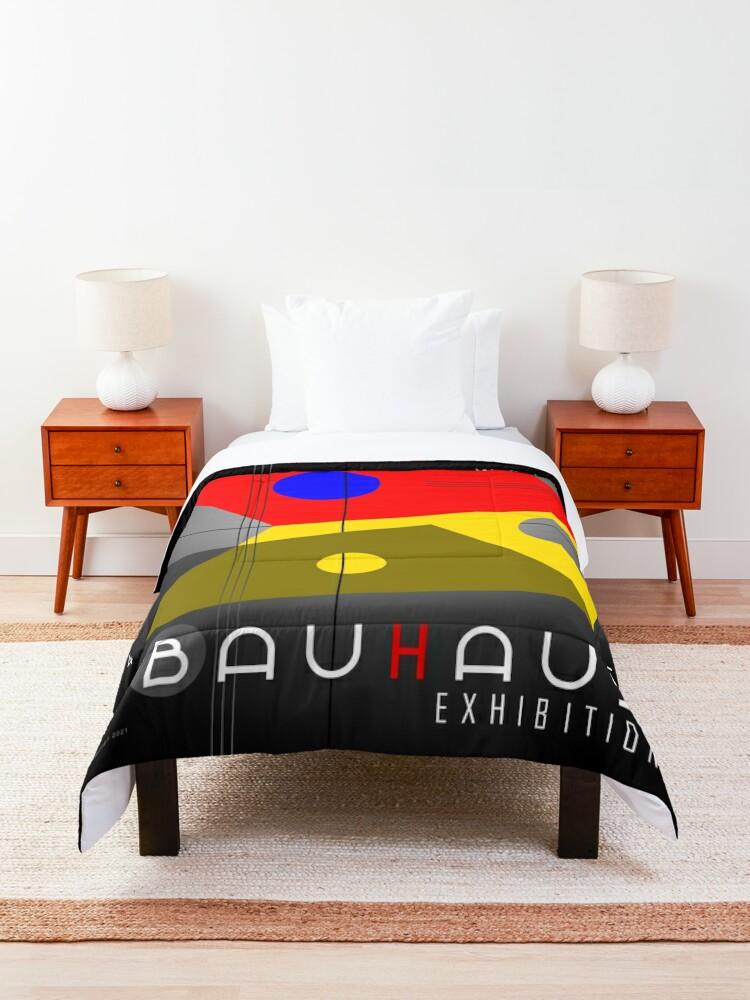 Alternate view of Bauhaus Exhibition Poster 1924 VIII v.2 Comforter