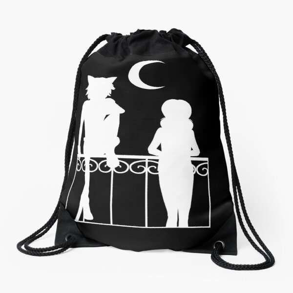 A Bit of Cheering Up (White Version) Drawstring Bag