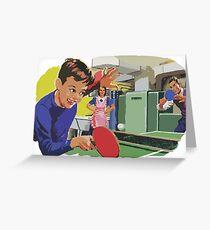 Ping Pong Championship Greeting Card