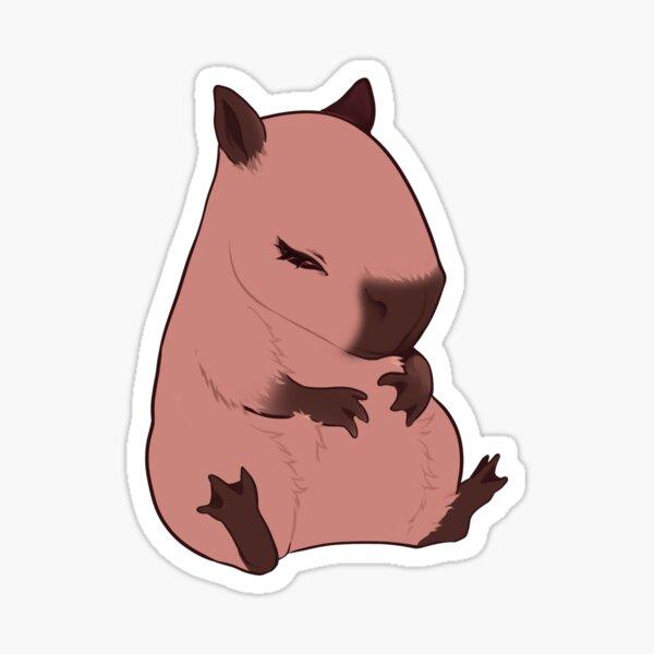 Sleeping Capybara Sticker