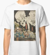 Utagawa Kuniyoshi - Mitsukuni And The Skeleton Spectermid 1840. Man portrait:  mask,  face,  man ,  samurai ,  hero,  costume,  kimono,  tattoos ,  sport, skeleton, macho Classic T-Shirt