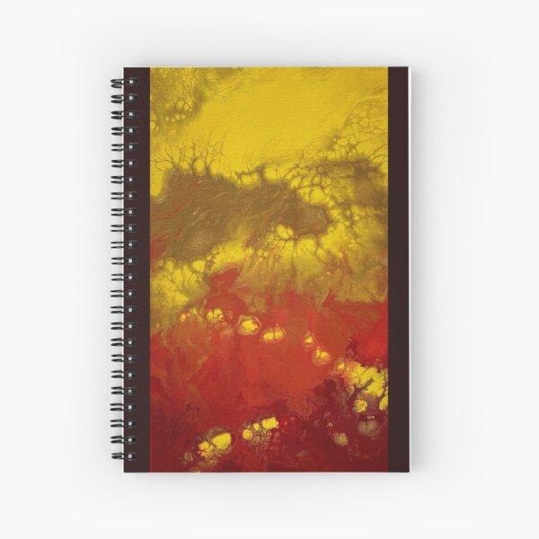 Yellow Drip Road  Spiral Notebook