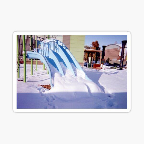35mm Snowy Playground  Sticker