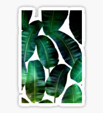 Cosmic Banana Leaves #redbubble #lifestyle Sticker