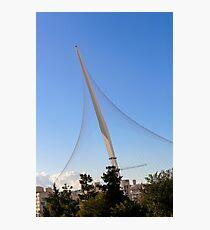 Israel, Jerusalem, Chord Bridge (AKA String Bridge)  Photographic Print
