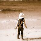 At the beach by Larissa Brea