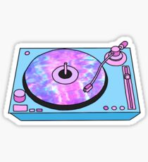 retro pastel turntable  Sticker