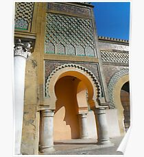 Morocco Meknes in colour Poster