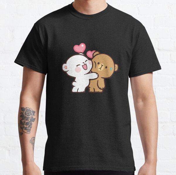 ours de lait mignons, couple drôle de bande dessinée T-shirt classique