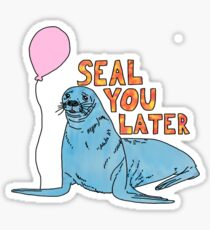 see you later seal Sticker