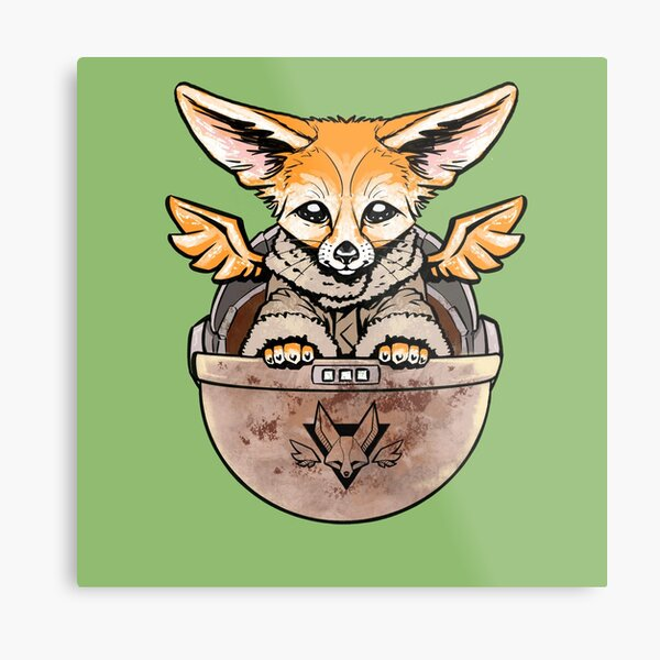 May The Fox Be With You! Baby Flying Fennec  Metal Print