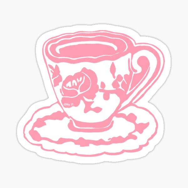 Rose Teacup Sticker
