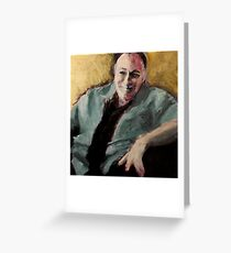 Tony Soprano Greeting Card