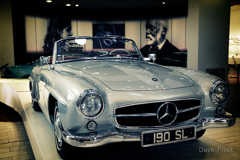 Mercedes benz 190sl posters by dave frost redbubble for Mercedes benz poster