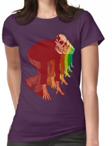 Racing Rainbow Skeletons Womens Fitted T-Shirt