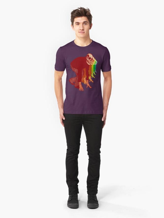 Alternative Ansicht von Racing Rainbow Skelette Slim Fit T-Shirt