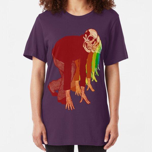 Racing Rainbow Skeletons Slim Fit T-Shirt