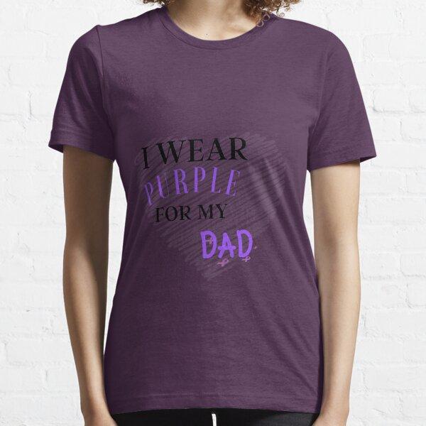 I Wear Purple For My Dad Essential T-Shirt