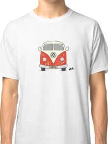 Volkswagen retro car, peace and love Classic T-Shirt
