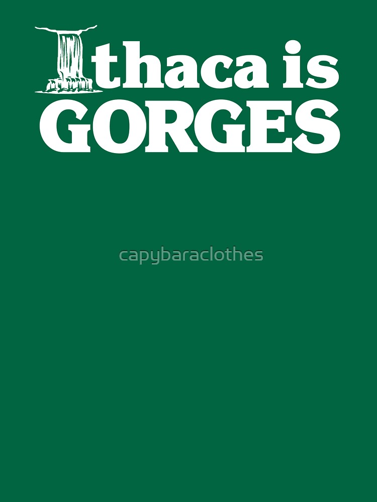 Ithaca is Gorges (classic) - Upstate Ithaca, New York NY College by capybaraclothes