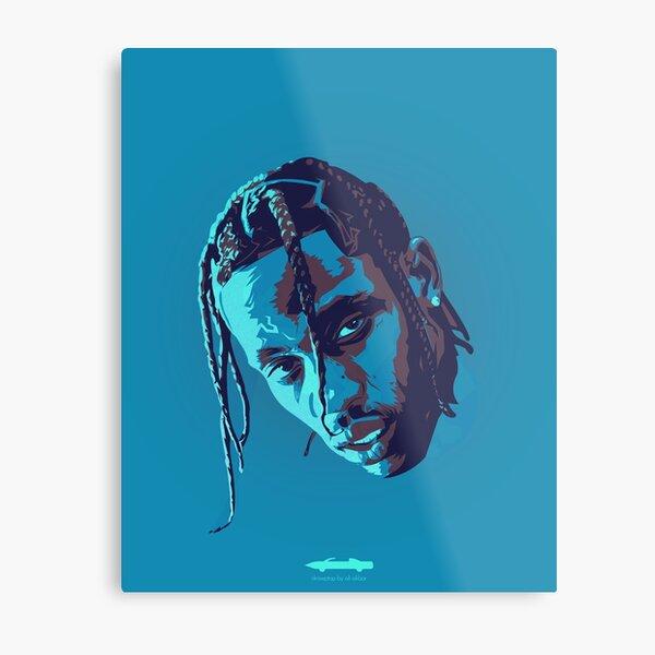 Blue Trav Portrait Metal Print