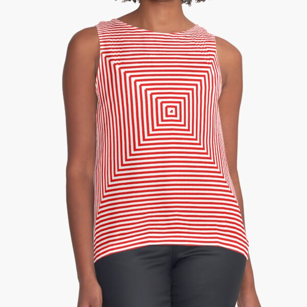 Nested concentric red squares Sleeveless Top