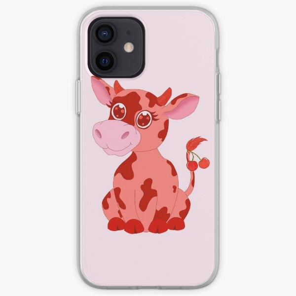 Cherry Cow  iPhone Soft Case