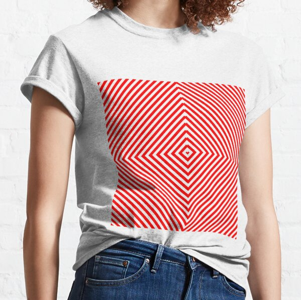 Nested concentric red squares Classic T-Shirt