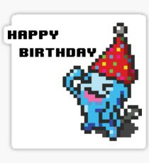 [Pokemon] 8Bit Wobuffet Birthday Card Sticker