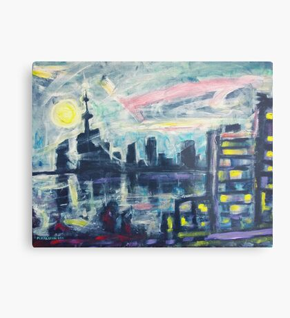 Magical City Evening Metal Print