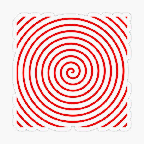 Red Spiral Transparent Sticker