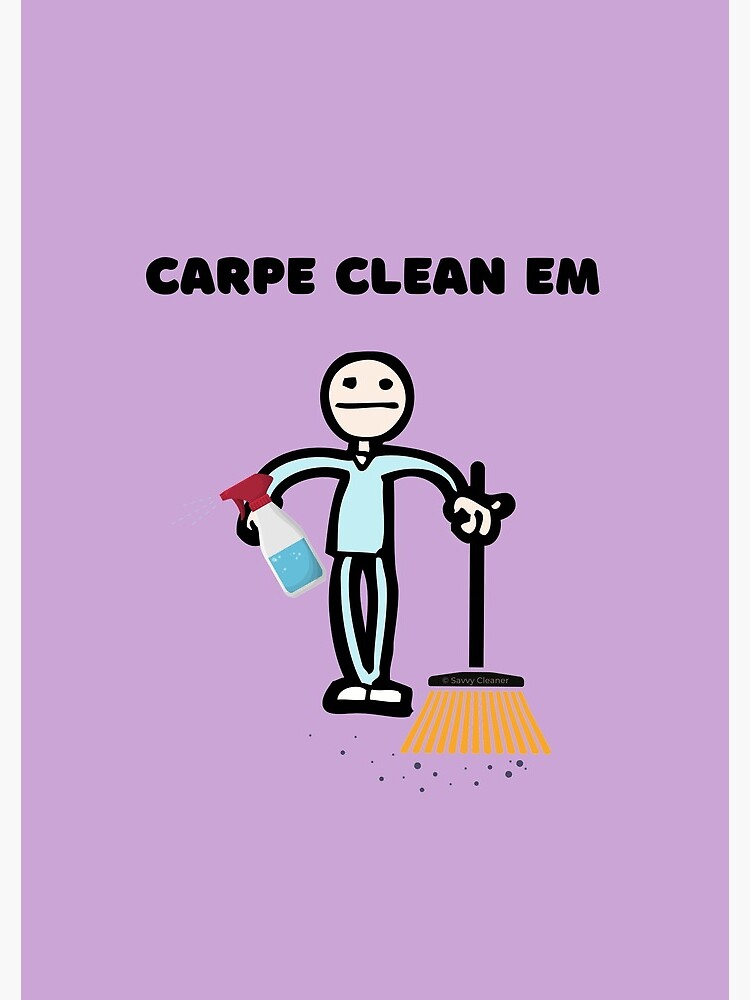 Carpe Clean em Spray Bottle Broom Cleaning Gifts by SavvyCleaner