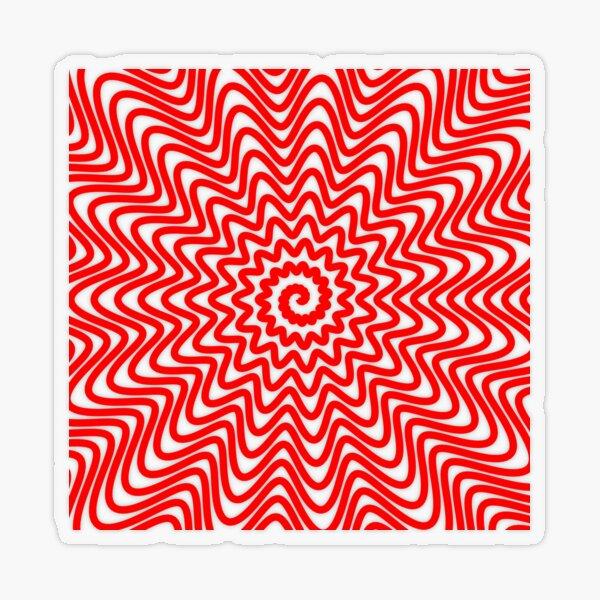 Red wavy spiral Transparent Sticker