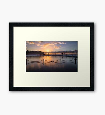 Bilgola Beach Sunrise Framed Print